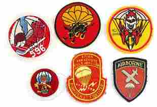 WWII US MILITARY AIRBORNE PATCH LOT OF 6