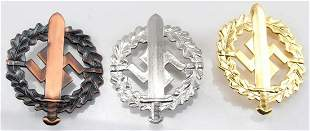 WWII THIRD REICH GERMAN SS SA SPORTS BADGE LOT 3