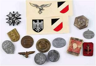 WWII GERMAN THIRD REICH ASSORTED TINNIE BADGES