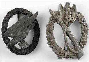 WWII GERMAN 3RD REICH INFANTRY & LUFTWAFFE BADGE