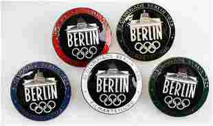 5 WWII GERMAN THIRD REICH OLYMPIC MEDALLION LOT