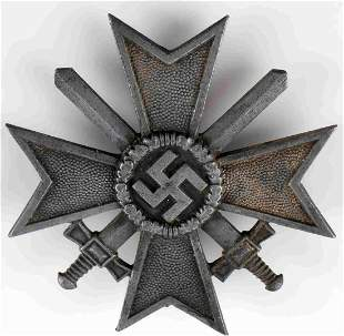 WWII GERMAN THIRD REICH WAR MERIT CROSS 1ST CLASS