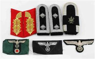 WWII GERMAN THIRD REICH LOT OF PATCHES & WEARABLES