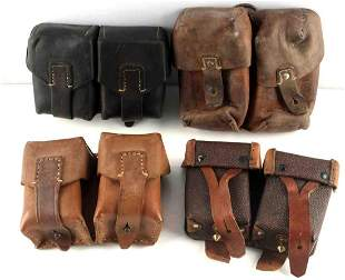 ASSORTED LOT OF 4 WWII  AMMO POUCHES MOSIN K98