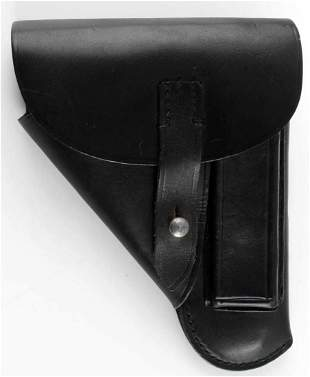 WWII GERMAN RZM SS PPK BLACK LEATHER HOLSTER
