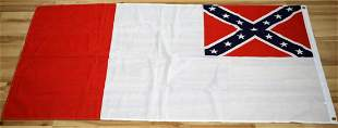 CONFEDERATE THIRD NATIONAL FLAG W GROMMETS
