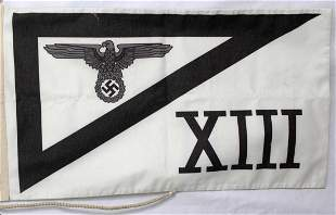 GERMAN WWII THIRD REICH SS XIII CORP EAGLE BANNER