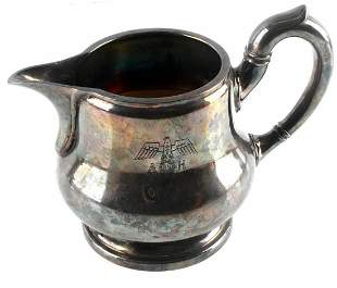 WWII GERMAN ADOLF HITLER SILVER PLATE PITCHER
