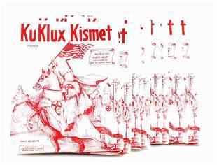 30 KKK KU KLUX KISMET SHEET MUSIC BOOKLETS C. 1924