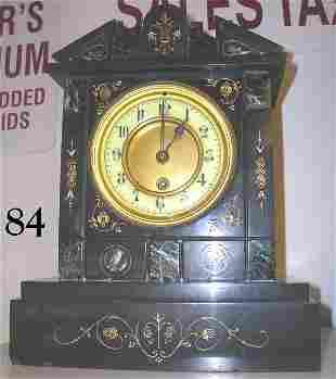ANTIQUE MANTLE CLOCK WIND UP CHIME CLOCK BLACK