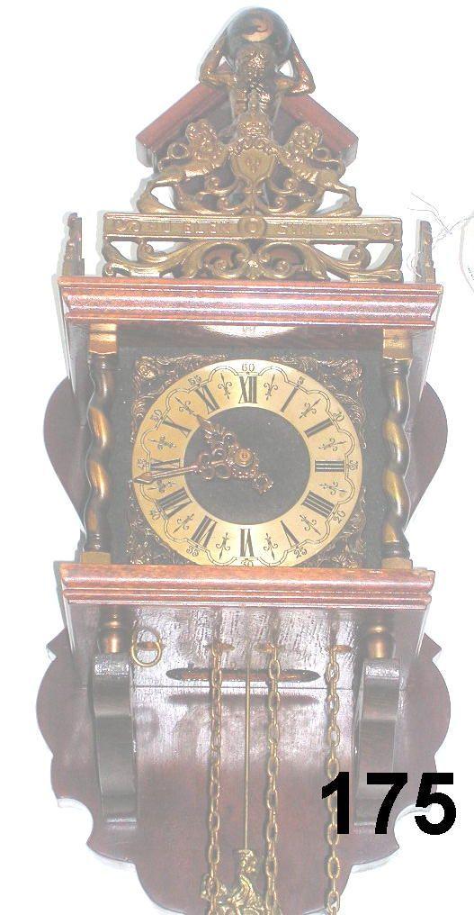 ANTIQUE GERMAN LOW COUNTRY PENDULUM CLOCK HORSE