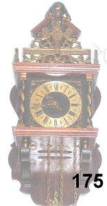70175: ANTIQUE GERMAN LOW COUNTRY PENDULUM CLOCK HORSE