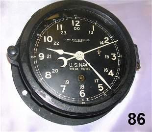 ANTIQUE U.S. NAVY CLOCK CHELSEA CLOCK CO BOSTON