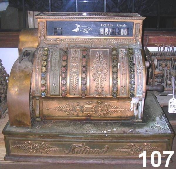 70107: ANTIQUE NATIONAL CASH REGISTER #92 1902