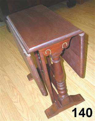 ANTIQUE BARTLEY SALESMAN SAMPLE GATELEG DL TABLE