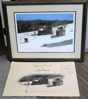 BOB TIMBERLAKE ARTIST SIGNED  LE LITHO W COA