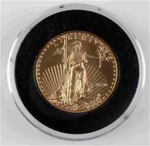 GOLD 2020 1/2 OZ AMERICAN EAGLE BU COIN