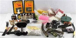 LARGE GROUP OF ARCHERY BOW HUNTING & SCENT SUPPLY