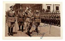 WWII GERMAN SIGNED PHOTO BY GORING & BLOMBERG