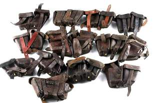 14 WWI WWII GERMAN LEATHER K98 AMMO POUCHES