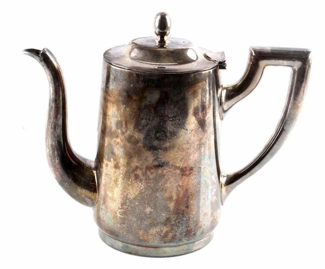 WWII GERMAN ADOLF HITLER LARGE COFFEE POT WELLNER