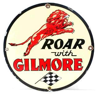 VINTAGE ROAR WITH GILMORE GAS & OIL ADVERTISING