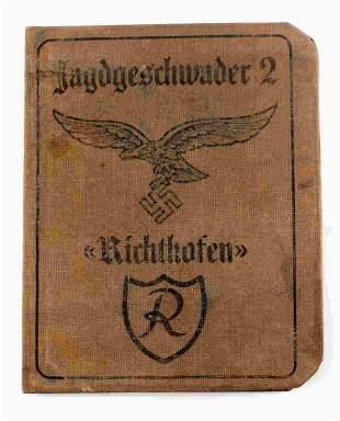 WWII GERMAN LUFTWAFFE RICHTHOFEN SQUAD ID BOOK