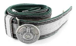 WWII GERMAN WAFFEN SS OFFICER BELT AND BUCKLE