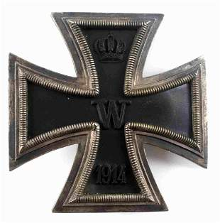 IMPERIAL GERMAN WWI 1ST CLASS IRON CROSS SILVER