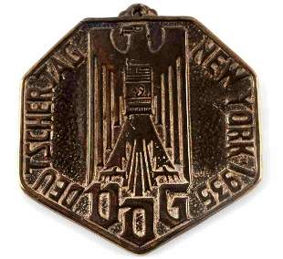 GERMAN AMERICAN BUND WWII 1935 DEUTSCHER MEDAL