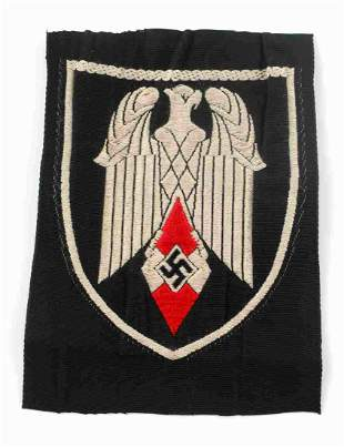 WWII GERMAN HITLER YOUTH HJ STANDARTE FLAG PATCH