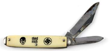 WWII GERMAN AMERICAN BUND HITLER SWASTIKA KNIFE