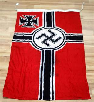 WWII GERMAN THIRD REICH COMBAT BATTLE BANNER FLAG