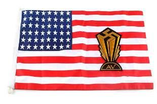 WWII GERMAN AMERICAN BUND AV SAWSTIKA BANNER FLAG