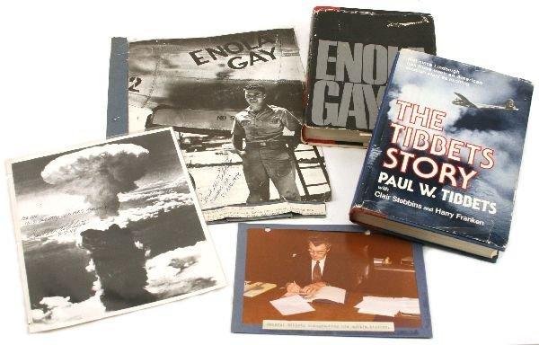 WW2 ENOLA GAY PAUL TIBBETS AUTOGRAPH GROUPING