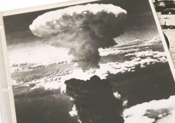 WW2 ENOLA GAY PAUL TIBBETS AUTOGRAPH GROUPING - 2