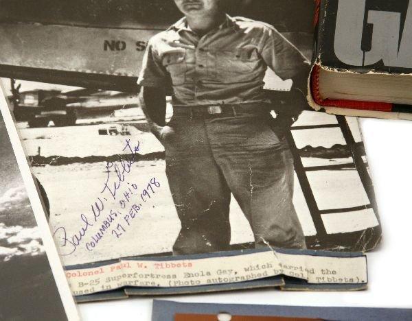 WW2 ENOLA GAY PAUL TIBBETS AUTOGRAPH GROUPING - 3