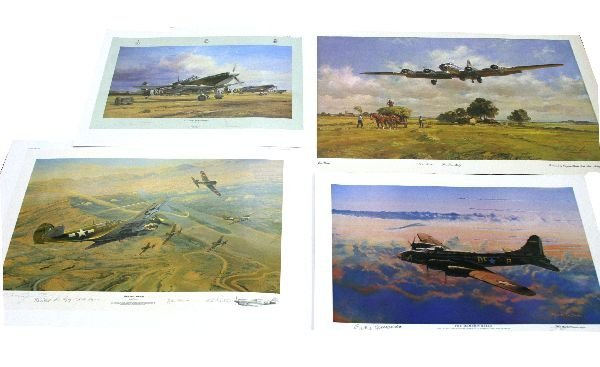 LOT OF 2 ROBERT TAYLOR SIGNED PRINTS PLUS OTHERS