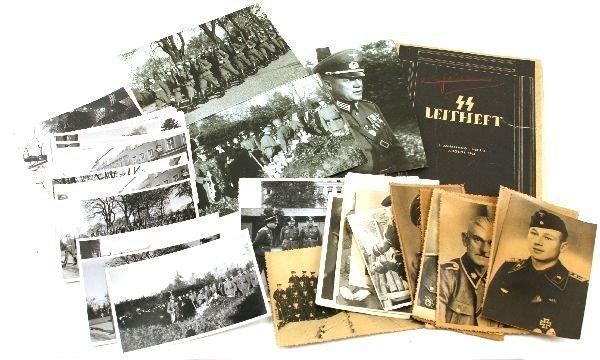 THIRD REICH PHOTOGRAPH LOT INCLUDING SS & HITLER