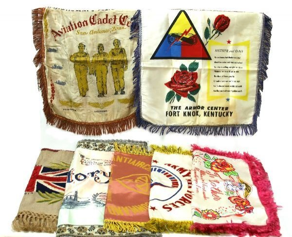 POST WWI PRINTED PILLOW CASE LOT