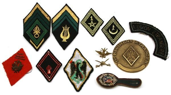 FRENCH FORIEGN LEGION BADGE LOT