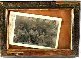 US OLD WEST INDIAN CABINET CARD PHOTOGRAPH