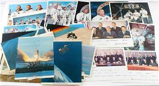 LOT OF 31 ASSORTED NASA PHOTOS APOLLO CREWS ETC