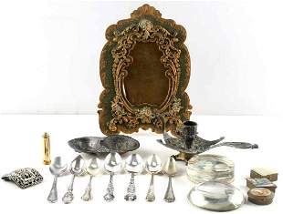 GENERAL ANTIQUES AND STERLING SILVER SPOON LOT