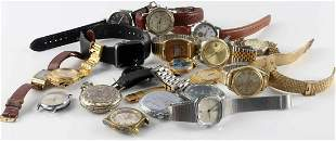 LOT OF 20 MENS WRISTWATCHES FOR PARTS OR REPAIR