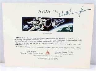 AUTOGRAPHED WALT CUNNINGHAM ASDA 1974 SPACE CARD