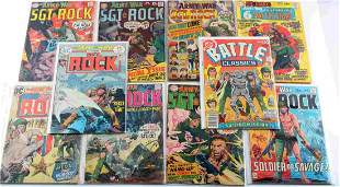 LOT 10 OUR ARMY AT WAR SERGEANT ROCK DC COMICS