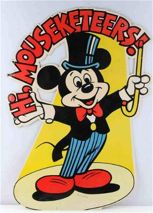 MICKEY MOUSE MOUSEKETEERS ADVERTISING POSTER