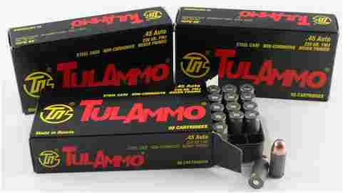 150 ROUNDS OF TULAMMO .45 AUTO 230 GR FMJ AMMO