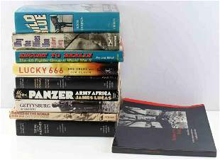 LOT OF 10 MILITARY WAR BOOKS PANZER ARMIES PACIFIC